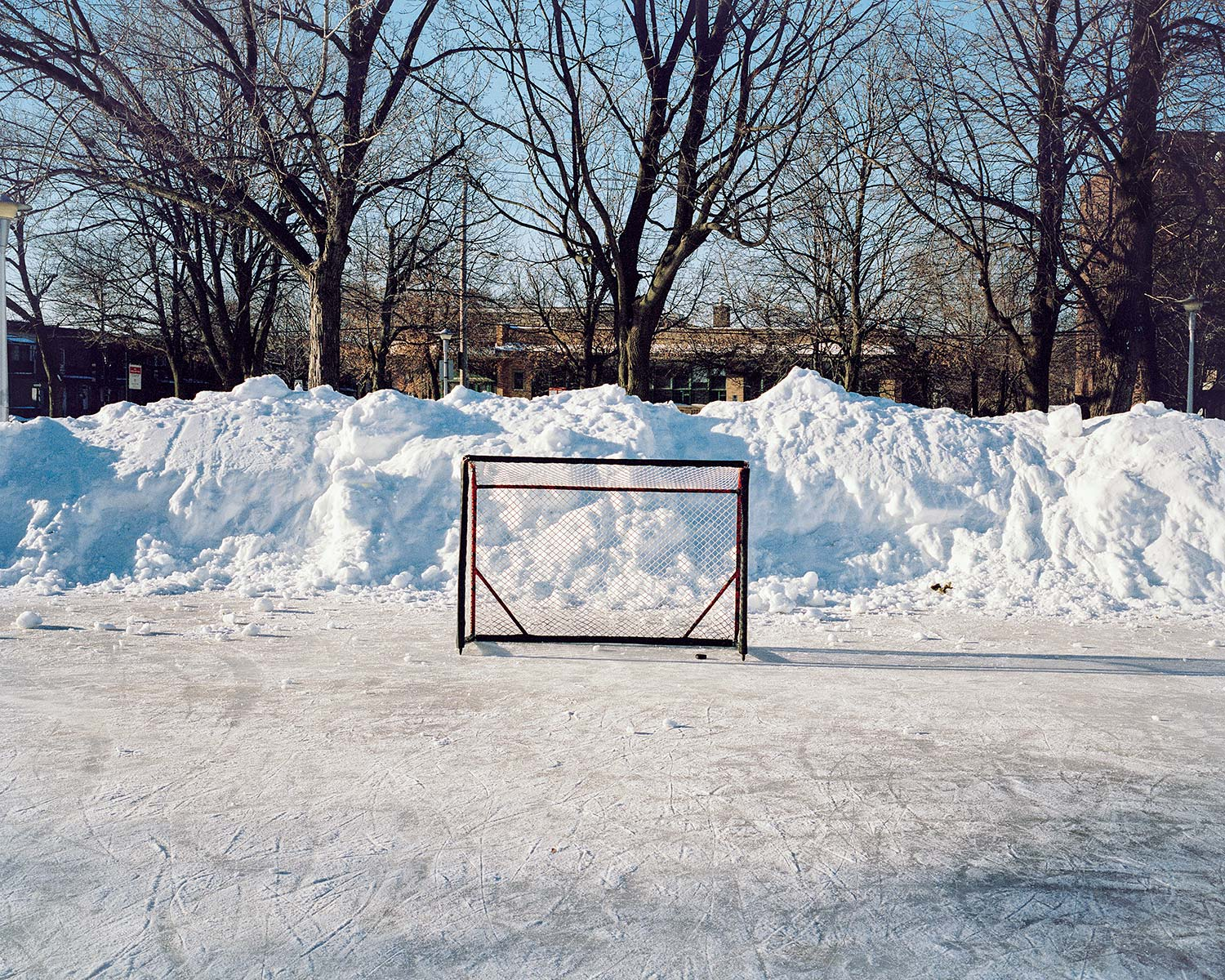 Shinny, Net and Puck, Notre-dame-de-Grâce, Montreal, Brant Slomovic Documentary Photography