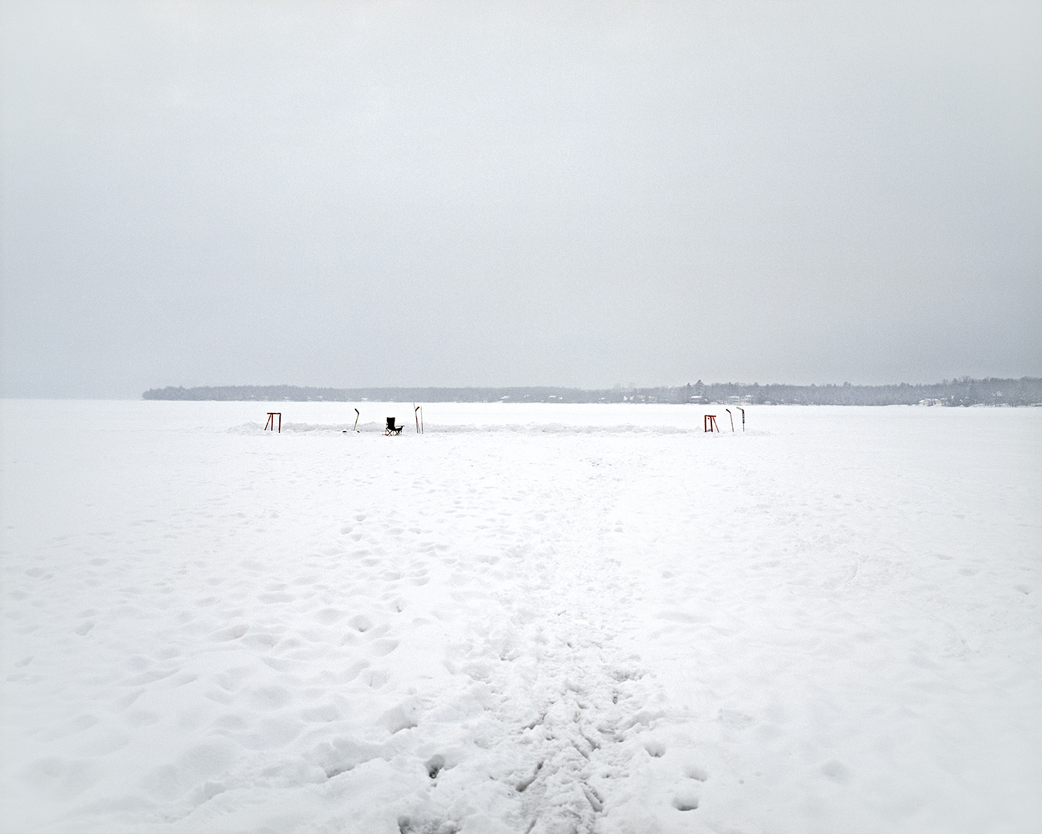 Shinny, Lac Brome, Quebec, Brant Slomovic Documentary Photography